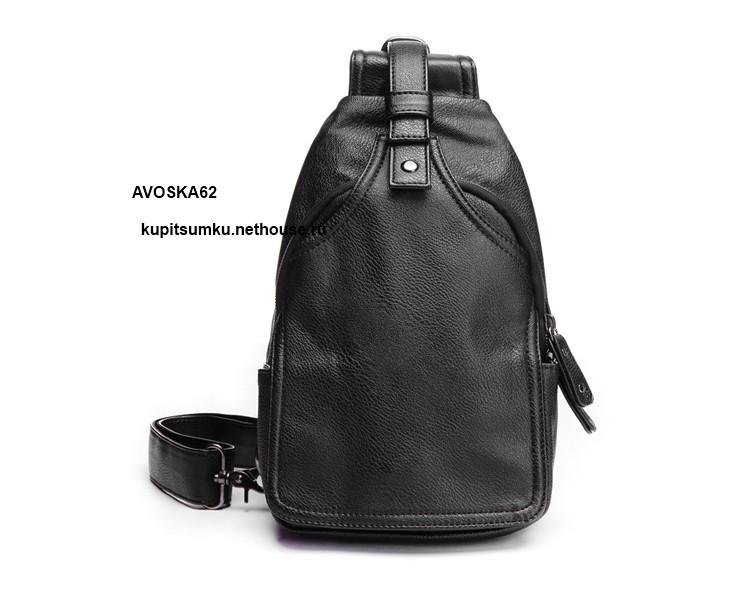 Однолямочные кожанные рюкзаки acropolis ррс-1 рюкзак-сумка 60л